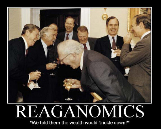 Reagaonomics - Trickle down economics - tax cuts