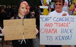 occupy wall street vs tea party 300x185 Occupy Wall Street (OWS) vs The Tea Party: A Brief Comparison
