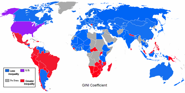 US income inequality gini coefficient