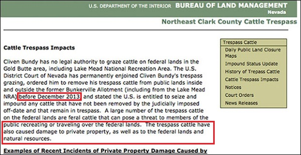 blm federal land bundy cattle