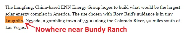 Harry Reid Chinese Solar Farm