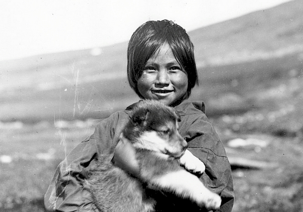 native and dog