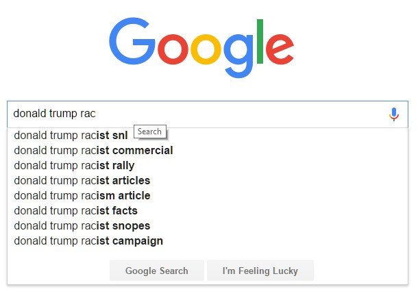 google donald trump racist