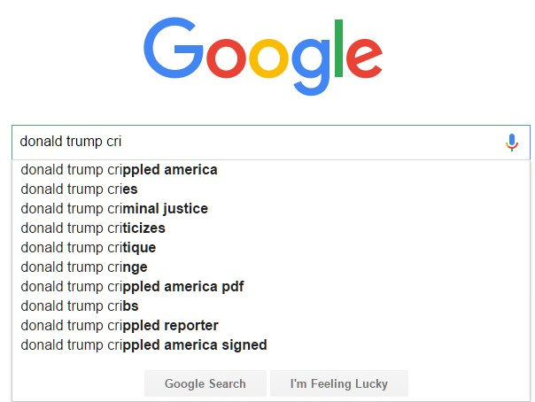 google trump crime