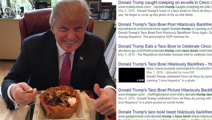 Trump's Taco Bowl Tweet