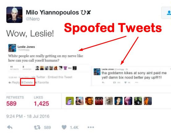 Milo's Spoofed Tweet