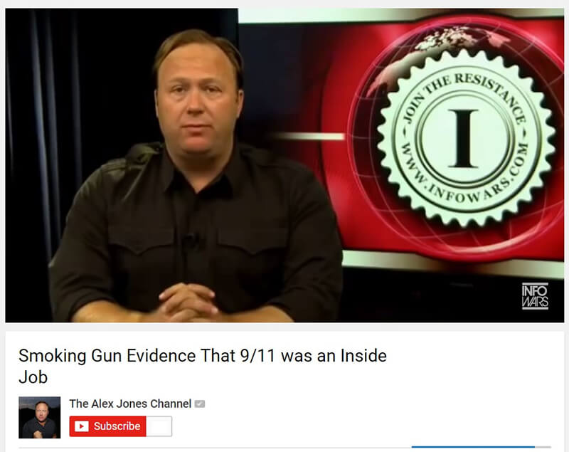 Alex Jones Fake News 911 Inside Job