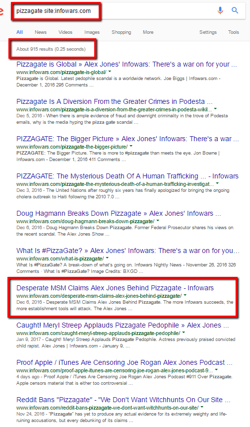 pizzagate fake news