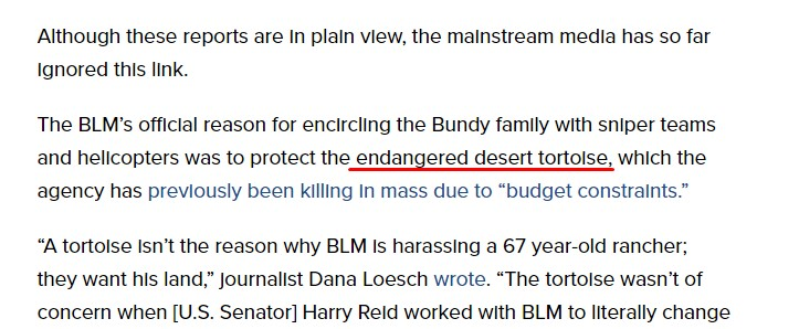 Info Wars makes false claim on Bundy Ranch