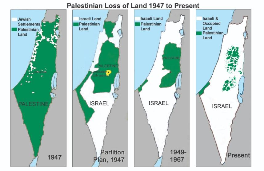 israel palestine map